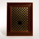 Confession box grill with hole, 2010 --- Object; Wall mounted box
