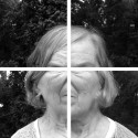 A Window In To : Out Of; Four separately diasec mounted photographs of my Mother's face, 2017, 67 x 88cm